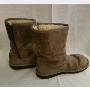 UGG Mayfaire Zip Up Gray Boots Size 8 S/U 5116